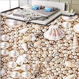 3D Wunderschöne Perlmutt Muschel Dreidimensionale Bodenfliesen Benutzerdefinierte Große Wandgemälde Pvc Verschleißfesten Kunststofffolie-450Cmx300Cm