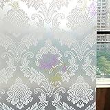 Yazi Vynilfolie /Sichtschutz für Schiebetür, Fenster, selbstklebend, matt , PVC, blume, 45x100cm