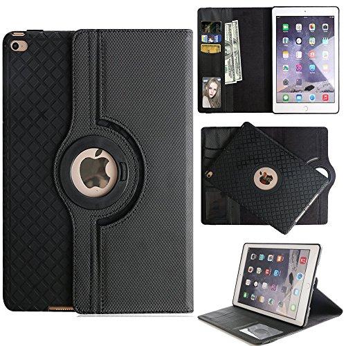 2017 Apple iPad Pro 10,5 Hülle Case, TechCode ® 360 Grad Drehbare Multi Winkel Display Magnetisch Schutzhülle mit Leichte Ständer und Hülle Case Schutzhülle Tasche für Apple iPad Pro 10.5'' (Schwarz) (Apple-tablet-fällen)