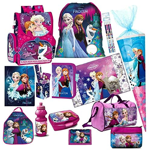 Disney Frozen EISKÖNIGIN 19 Teile Set inklusive Sticker von Kids4shop Schulranzen RANZEN SCHULTÜTE Tornister Schultasche