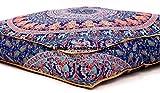 indischen Mandala Boden Kissen quadratisch osmanischen Pouf Sofa Übergroße Kissenbezug Baumwolle Platz Ottoman Puffs Hunde/Haustiere Bett Verkauft von handcraft-palace
