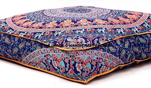 Mandala India, Almohada Cuadrada Suelo