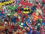 Lot de de stickers autocollants super héros, marvel, DC comics, X-men, Batman, spiderman, superman, avengers
