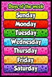 #8: idecor Days of The Week Chart for Kids – Child Learning Wall Poster for Room & School – Size - 12x18 with Matte Finish 300 GSM Quality