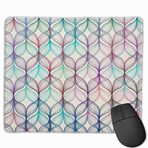 Tappetino per mouse da gioco con motivo a trecce di sirena, in gomma antiscivolo, per computer e computer portatili, 24,9 x 30 cm