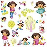 RoomMates Repositionable Childrens Wall Stickers - Dora the Explorer