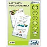 Favorit Portalistino Personalizzabile 120 Buste, 22 x 30 cm, Trasparente