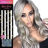 Silberne holographische Glitzer-Haarsträhnen - HAIR DAZZLE - Zubehör für Festival-Haare, Silber-Glitzer, Haar-Glitzer, Haarverlängerung