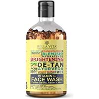 Bella Vita Organic Vitamin C Face Wash For Oily to Normal Skin women & men, Hydration, Brightening, Pore Cleansing, Detan, Pigmentation, Blemishes, Acne & Sensitive Skin, Sulfate & Paraben Free