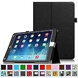 iPad Air 2 Case [Corner Protection] - Fintie Slim Fit Premium Vegan Leather Folio Case with Smart Cover Auto Sleep / Wake Feature for Apple iPad Air 2 (iPad 6) 2014 Model, Black