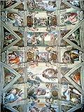 Cuadro sobre lienzo 100 x 130 cm: Sistine Chapel ceiling and lunettes de Michelangelo / Bridgeman Images - cuadro terminado, cuadro sobre bastidor, lámina terminada sobre lienzo auténtico, impresió...