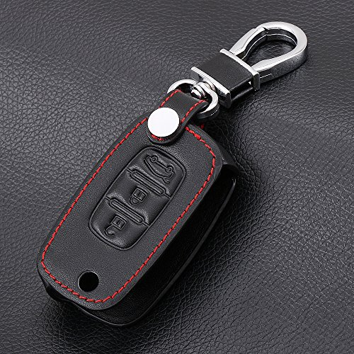 YSKDM Autoschlüssel Fall Auto Flip Schlüssel Taschen Fob Cover für Lada Limousine Largus Kalina Granta Vesta X Ray XRay Folding Keychain Schlüsselanhänger, schwarz Folding Remote Key Fall