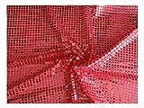 Fabrics-City ROT HOCHWERTIG PAILETTEN STOFF PAILLETTENSTOFF 6MM STOFFE, 2431