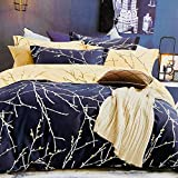Refinish Home Vintage Fiesta Collection Blue Colour Poly Cotton 90x100 In. (228x254cm)(7.5ft By 8ft) Queen Size Delightful Double Bed Sheet With 2 Pillow Covers Under 1000