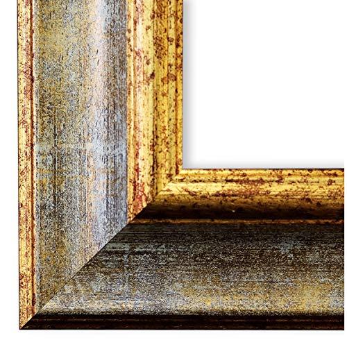 Online Galerie Bingold Bilderrahmen Grau Gold 60x90-60 x 90 cm - Antik, Barock, Vintage - Alle Größen - handgefertigt in Deutschland - LR - Acta 6,7 -