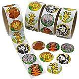 Howaf 300 Pezzi Animale Adesivi per Bambini, Scuola Ricompensa Adesivi Etichetta per Bambini di Compleanno Bomboniere, Compleanno Regalo per Bambini