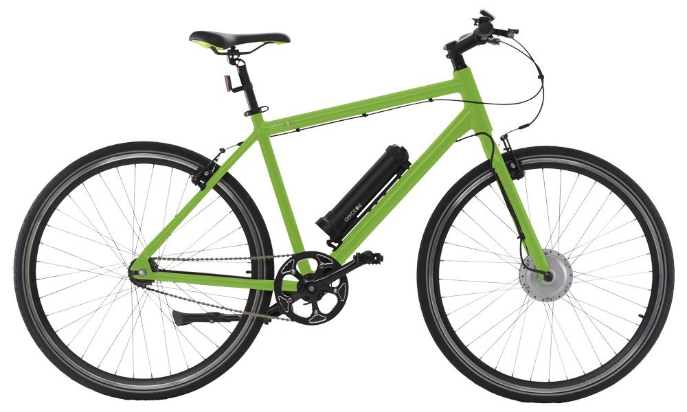 "61tntSvU7uL - AEROBIKE Electric Bike Mens Hybrid eBike Bicycle 28"" Wheels Pedal Assisted Mountain Bike 36v Li-ion Battery SRAM Automatix Gear System"