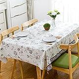 Luziang Tischdecken,Tischdecke PVC Wasserdichtes ölbeständigem Tischtuch rechteckige Rutschfeste Heizmatte 1.37 * 2m