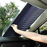 BMDHA Parasole Per Auto Parabrezza Anteriore Automatico Telescopico Protezione Solare Isolamento Calore Tendine Parasole Auto,65Cm
