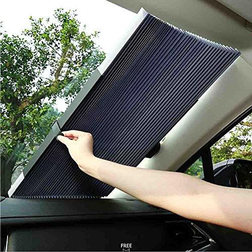BMDHA Auto Sonnenblende Frontscheibe Automatisch Teleskopisch Sonnencreme Isolierung Hitze Autofenster Shades (65-80Cm),80Cm (Hintere Isolierung)