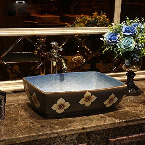 HAI Retro Kunst Bühne über Zähler Becken industriellen Stil Becken Basin antike Keramik Waschbecken Platz Bühne Waschbecken Einbauwaschbecken