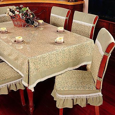 Stile pastorale cotone e lino stampato tovaglie, Olives green, 150*220cm(59.1*86.6