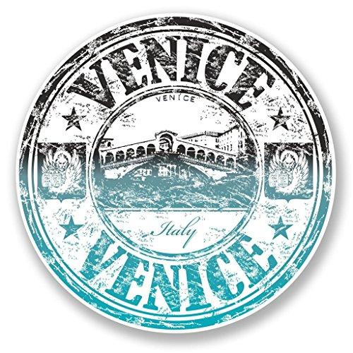 Preisvergleich Produktbild 2x Venedig Italien Vinyl Aufkleber Aufkleber Laptop Reise Gepäck Auto Ipad Schild Fun # 6645 - 20cm/200mm Wide