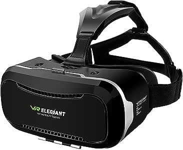"""ELEGIANT 3D VR Headset, Universal 3D VR Brille Einstellbar Brille Video Movie Game Brille Virtual 3D Reality Glasses VR World Head Mounted für 3D Filme und Spiele für4.7-6"""" Android IOS iPhone Samsung"""