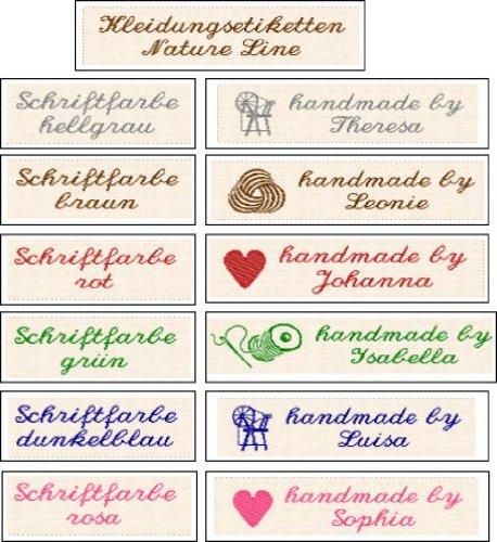 50 Gewebte Etiketten Nature Line
