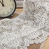 Weiß 1Yard Baumwolle gehäkelt Spitze ausgehöhlten Spitzenband Kostüme Supplies Craft DIY 65/20,3cm Breite