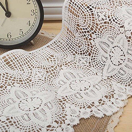 Weiß 1Yard Baumwolle gehäkelt Spitze ausgehöhlten Spitzenband Kostüme Supplies Craft DIY 65/20,3cm ()