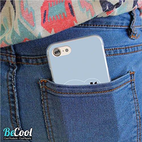 BeCool®- Coque Etui Housse en GEL Flex Silicone TPU Iphone 8, Carcasse TPU fabriquée avec la meilleure Silicone, protège et s'adapte a la perfection a ton Smartphone et avec notre design exclusif. Tha L1133