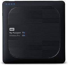 WD My Passport Wireless Pro 4TB Portable External Hard Drive (Black)