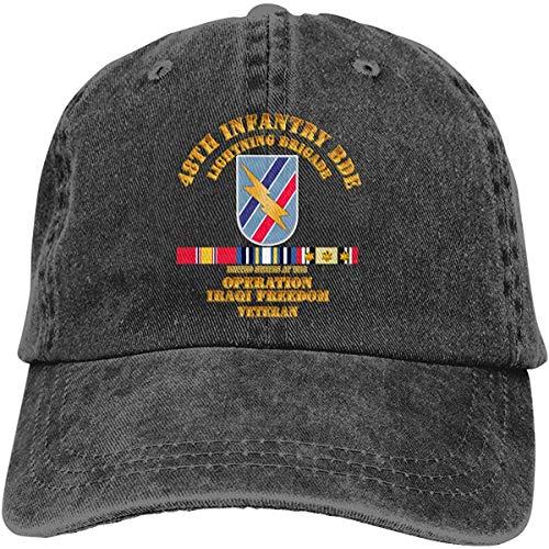 NA 48. Infanterie-BDE-Blitz-Brigade am Veteranen-justierbaren Baseballmütze-Denim-Hut des Kriegs-OIF