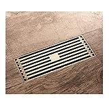 popowbe Antik Bronze Rechteck Abläufe Bodenablauf Badezimmer Duschrinne Bezug Kupfer Messing Küche Filter Sieb Sieb 200mm x 82mm
