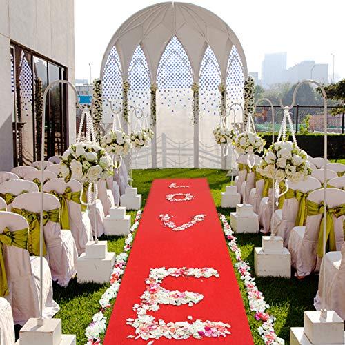 n Hollywood VIP Roter Teppich Polyester Red Carpet Hochzeit Deko Einweg 5X1M ()
