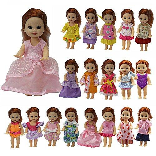 tüme Kleid Kleidung Handgefertigte Mode Niedlich für Barbie's Sister Kelly Puppen (Zufällige Auswahl) ()
