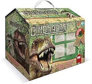 MULTIPRINT Dinosaurs - Juegos de Sellos para niños, Caucho, Madera, 3 año(s), Italia, 245 mm, 170 mm