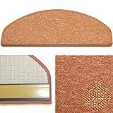 Karat 52 terra, Schlingen Stufenmatte aus deutscher Produktion, mit Sicherheitswinkel, solider Verarbeitung und wohnlichen Farben