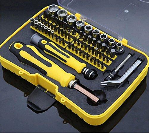 Preisvergleich Produktbild 70 in 1 Präzisions-Magnetschraubendreher Werkzeug-Set, praktisch robust und flexibel, Haushalt Reparatur Werkzeug-Kit für verschiedene elektrische Geräte