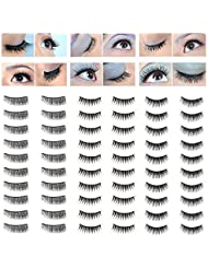 Fantastic Price Make Up Artists Set of 30 Pairs Best Quality Handmade False Eyelashes / Fake Eyes Lashes In 3 Different Styles By VAGA