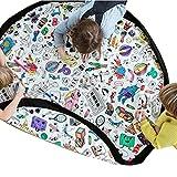 TXDY Sacchetto di immagazzinaggio DIY di Colore per Bambini, stuoia del Giocattolo di Doodle con Dimensioni Super Grandi di 1,5 m di Diametro per Bambini Piccoli Che Giocano all'aperto