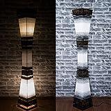 Asiatische Stehleuchte Designer Stehlampe Naturlampe Leuchten Bali Deko 150cm (L14)