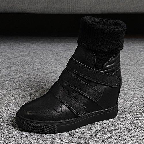 Bottes thermiques d'hiver Antidérapant chaud et confortable Bottes de femmes , 39 , black