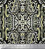 Soimoi Gelb Samt Stoff Blumen & Paisley dekorativ Stoff