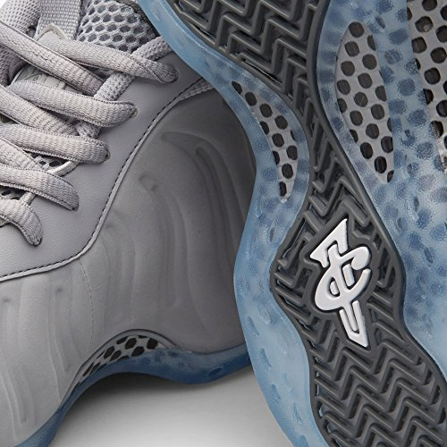 Nike Air Foamposite One Prm, Scarpe da Basket Uomo Grigio / Bianco / Grigio / Nero (Wolf Grey / White-Cool Grey-Blk)