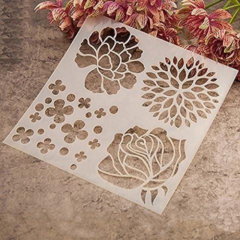 Gemini _ Mall® Mode Peinture Pochoir Album de scrapbooking gâteau Café DIY Art Décor fleur