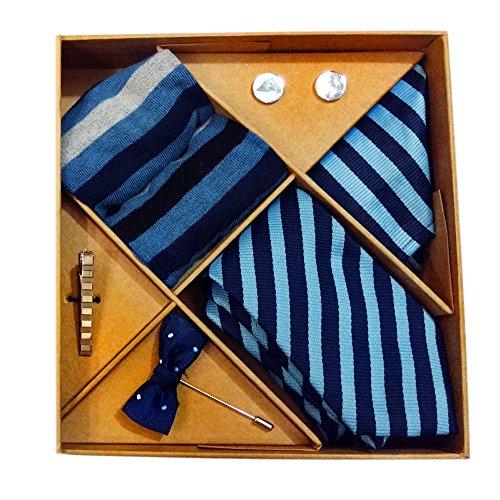 Blacksmith Blue Striped Tie, Cufflink, Pocket Square, Socks, Lapel Pin, Tie Clip...