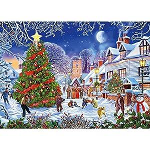 Gibsons The Village - Puzzle de árbol de Navidad (500 Piezas)