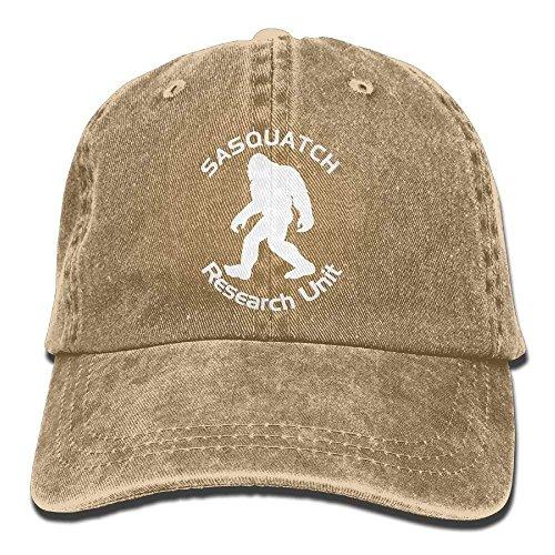 Personality Caps Hats Sasquatch Research Unit Unisex Adult Adjustable Denim Dad Hat Outdoor Research-stretch-cap